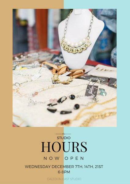 studio hours for hattitude jewellery come get your shop on!