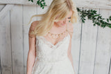 boho shoulder chain with pearls wedding necklace AVONLEA