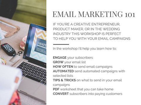 email marketing intro workshop using mailchimp hands on in caledon toronto