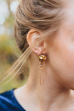 gold if only  unique long dangly boho earrings handcrafted in toronto canada by hattitude jewels