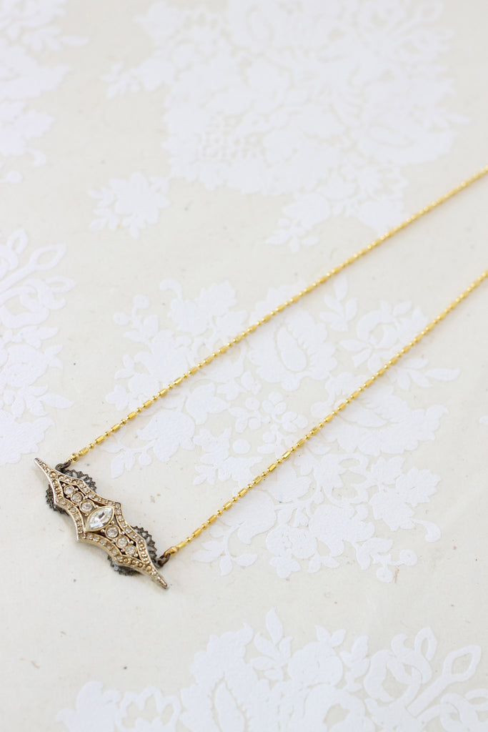 Unique small bride gold necklace FOR A MOMENT
