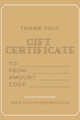 Unique handmade jewelry GIFT CERTIFICATE - $25.00 - $100.00