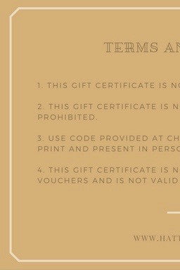 Gift Certificate For Jewellery From Hattitude Jewels 25 00