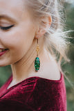green with envy vintage repurposed earrings by hattitude jewels handmade in canada