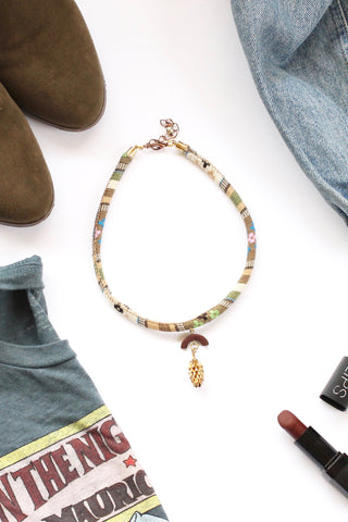 Pendant fashion choker ACORN BARK