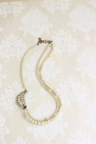 bridal necklace with pearls vintage style PRINCESS ODETTE