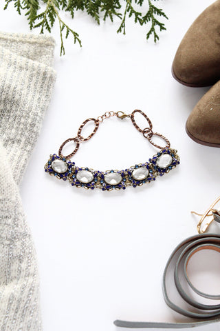 vintage blue sapphire and crystal costume jewelry choker