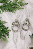 crystal drop long dangly vintage earrings