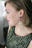 geometric viking looking vintage earrings handmade in toronto and caledon ontario