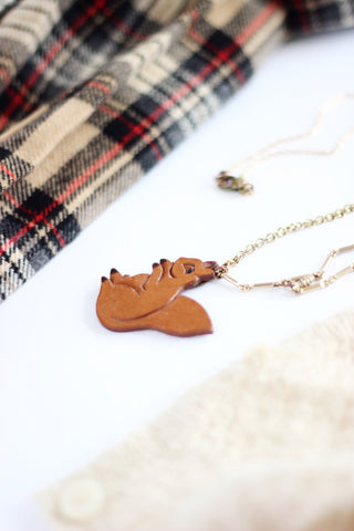squirrel nature lover cute necklace