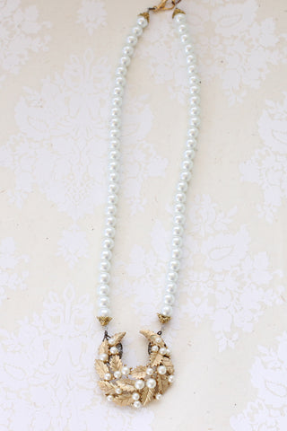 pearl vintage wedding necklace MOON RISING