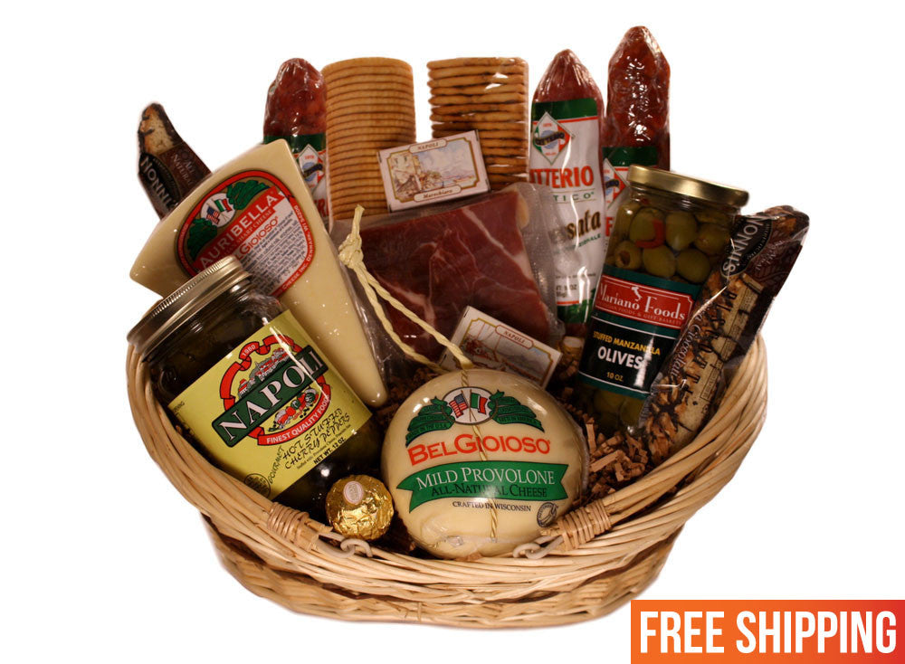The authentic antipasto italian food gift basket marianofoods the authentic antipasto basket negle Choice Image