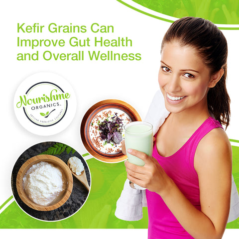Kefir grains can improve gut health and overall wellness