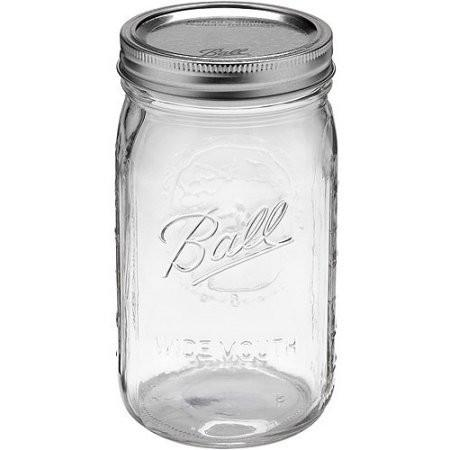 Ball Mason Wide Mouth Glass Jar 950 ml with Lid