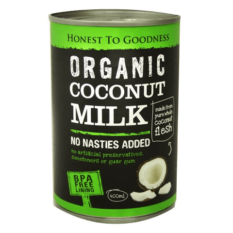 Organic Coconut Milk 400ml - (No Nasties Added)- Nourishmeorganics