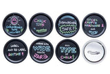 CHALK TOPS - CHALKBOARD MASON JAR LIDS - WIDE MOUTH - 8 PACK - NourishmeOrganics