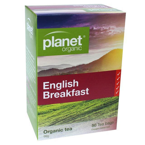Planet Organic English Breakfast Tea - 50 teabags- Nourishmeorganics