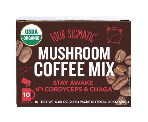 Four Sigmatic - Cordyceps & Chaga Mushroom Coffee Mix (x 10 sachets) (10g)