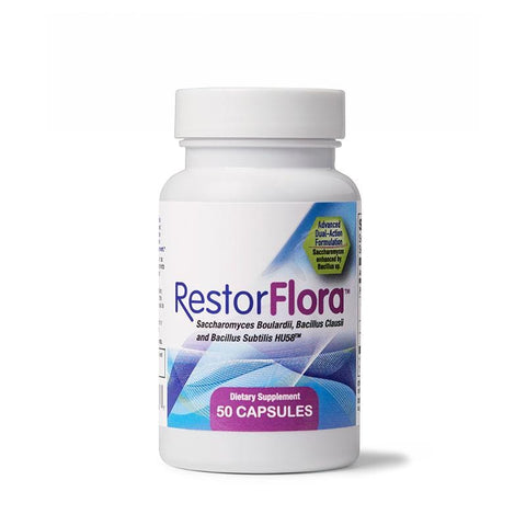 RestorFlora SPORE-BASED AND YEAST PROBIOTIC | ANTIOXIDANT 50 capsules