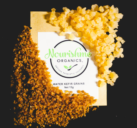 Dried Organic Vegan Water Kefir Grains 15g + Recipe Ebook
