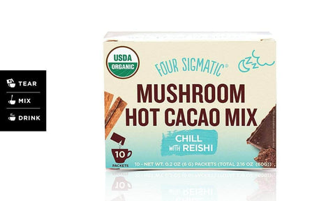 Four Sigmatic - Mushroom Hot Cacao Mix with Reishi (x 10 sachets) (6g)