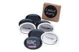 CHALK TOPS - CHALKBOARD MASON JAR LIDS - REGULAR MOUTH - 8 PACK - NourishmeOrganics  - 1