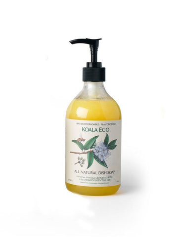Natural Dish Soap - with Australian LEMON MYRTLE and MANDARIN Essential Oil