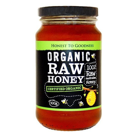 ORGANIC Raw Honey - 500g  Nourishmeorganics