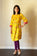 Mustard Yellow - nursing kurta with Concealed Zippers