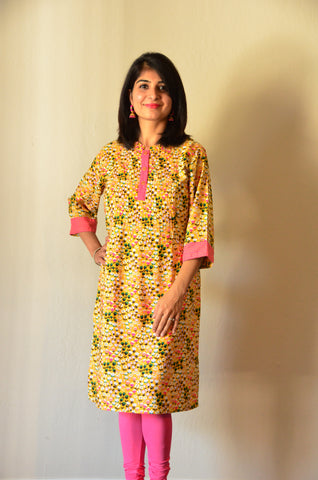 Pink Lemon - nursing kurta with Concealed Zippers