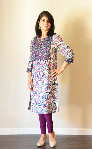 Iris - Nursing kurta with concealed zippers