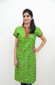 Fresh Green -  Printed Nursing Kurta with Concealed Zippers