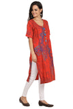 Scarlet - Nursing kurta with concealed zippers