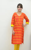 Persian Orange - Nursing Kurta with concealed zippers