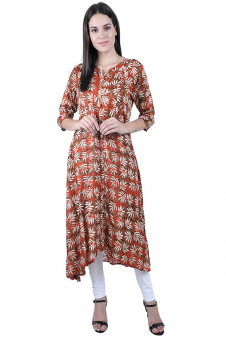 Autumn Leaves - nursing kurta with Concealed Zippers