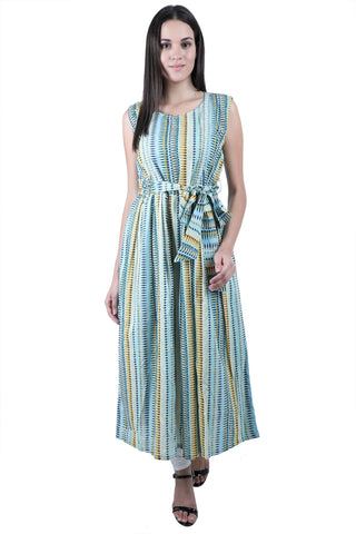 Evergreen Striped - nursing kurta with Concealed Zippers