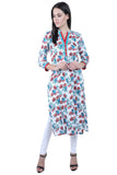 Blue Daisy - nursing kurta with Concealed Zippers