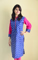 Royal blue - nursing kurta with Concealed Zippers