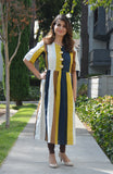 Mustard stripes - nursing kurta!