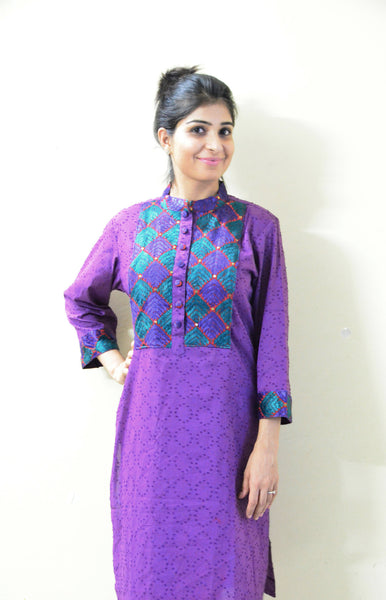 Pretty in Purple - Nursing/Feeding Kurta