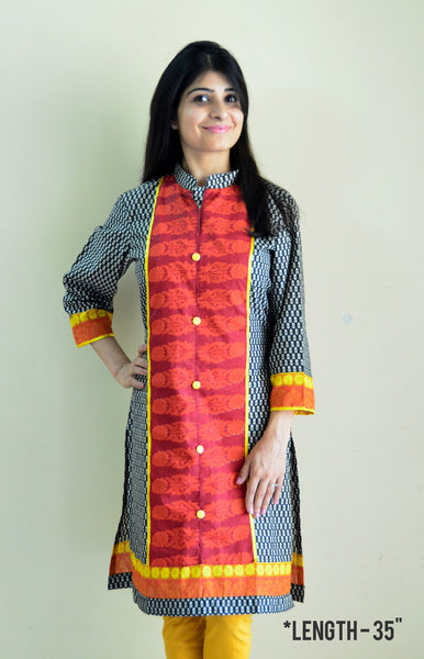 Elegant Nursing Kurta with concealed zippers