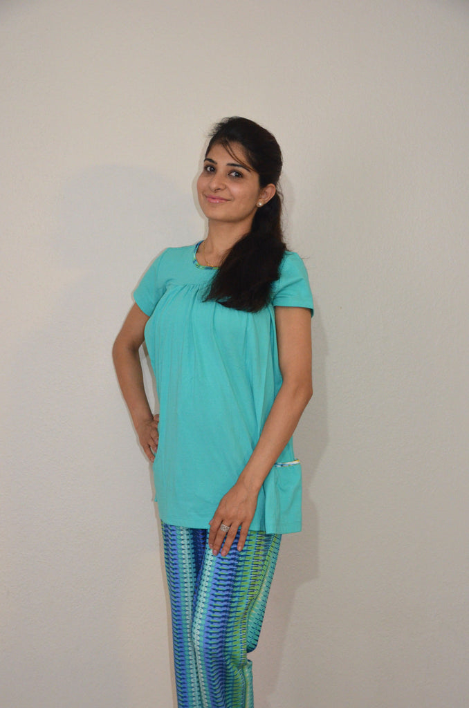 9cd53d950c Turquoise blue - Nursing Night suit