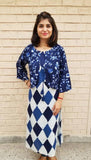 Fabulous blue - kurta/dress with attached jacket