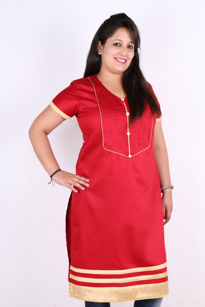 Love Red Nursing Top with concealed zippers