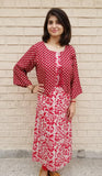 Fabulous maroon - kurta/dress with attached jacket