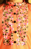 Zoom view - coral nursing kurti for feeding