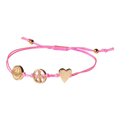Peace, Love and Happiness Bracelets