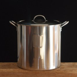 30 Quart Stainless Steel Brewing Pot, 18 guage, w/ lid