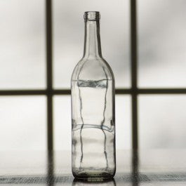 750ml Screw-Top Clear Bordeaux Bottle, Case of 12