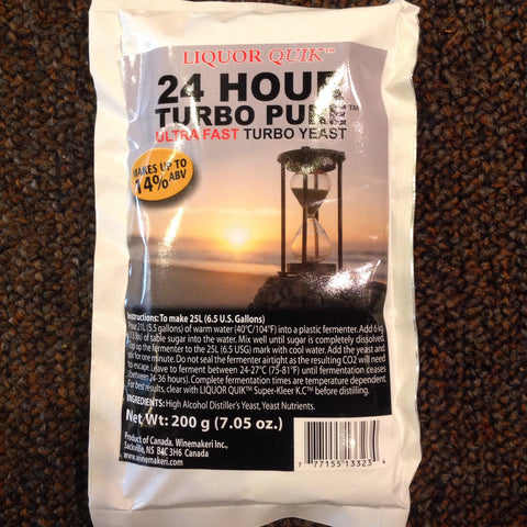 Liquor Quik 24 Hour Turbo Pure Ultra Fast Turbo Yeast